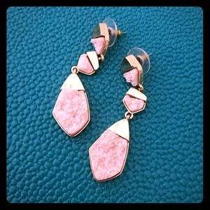 BaubleBar earrings (pink and gold)